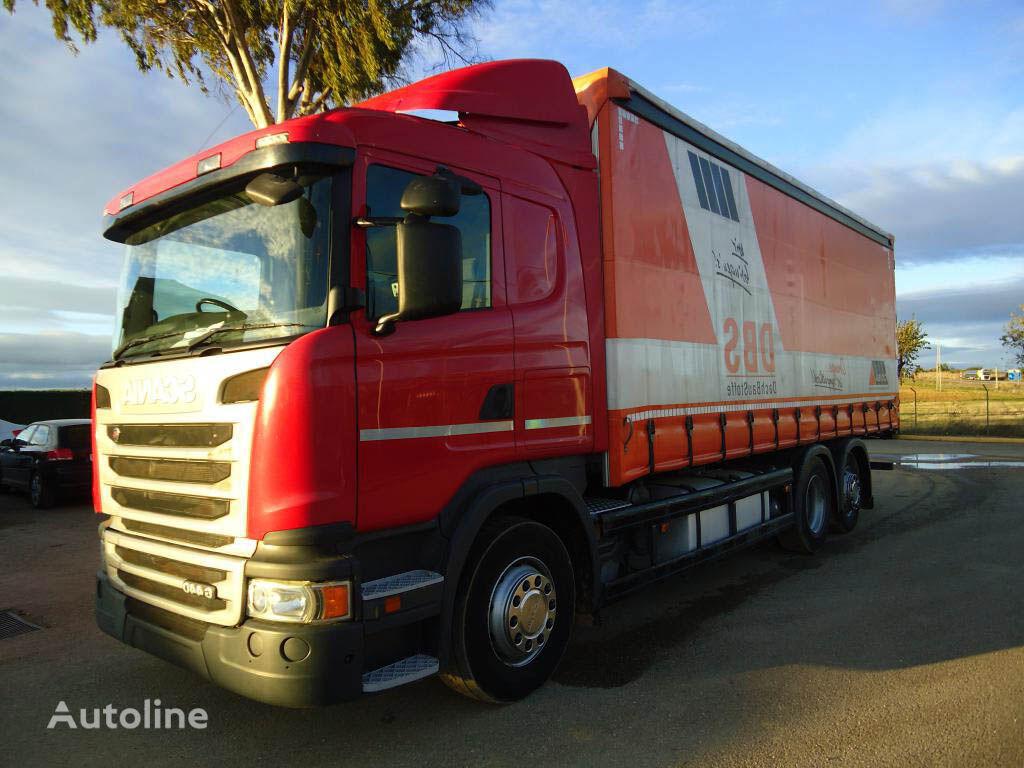 SCANIA G 440 camión con lona corredera