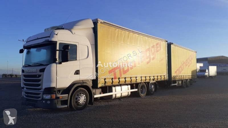 SCANIA R camión con lona corredera