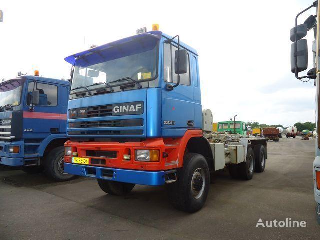GINAF G3333-S 6x6 Ketting / Chain system camión con sistema de cables