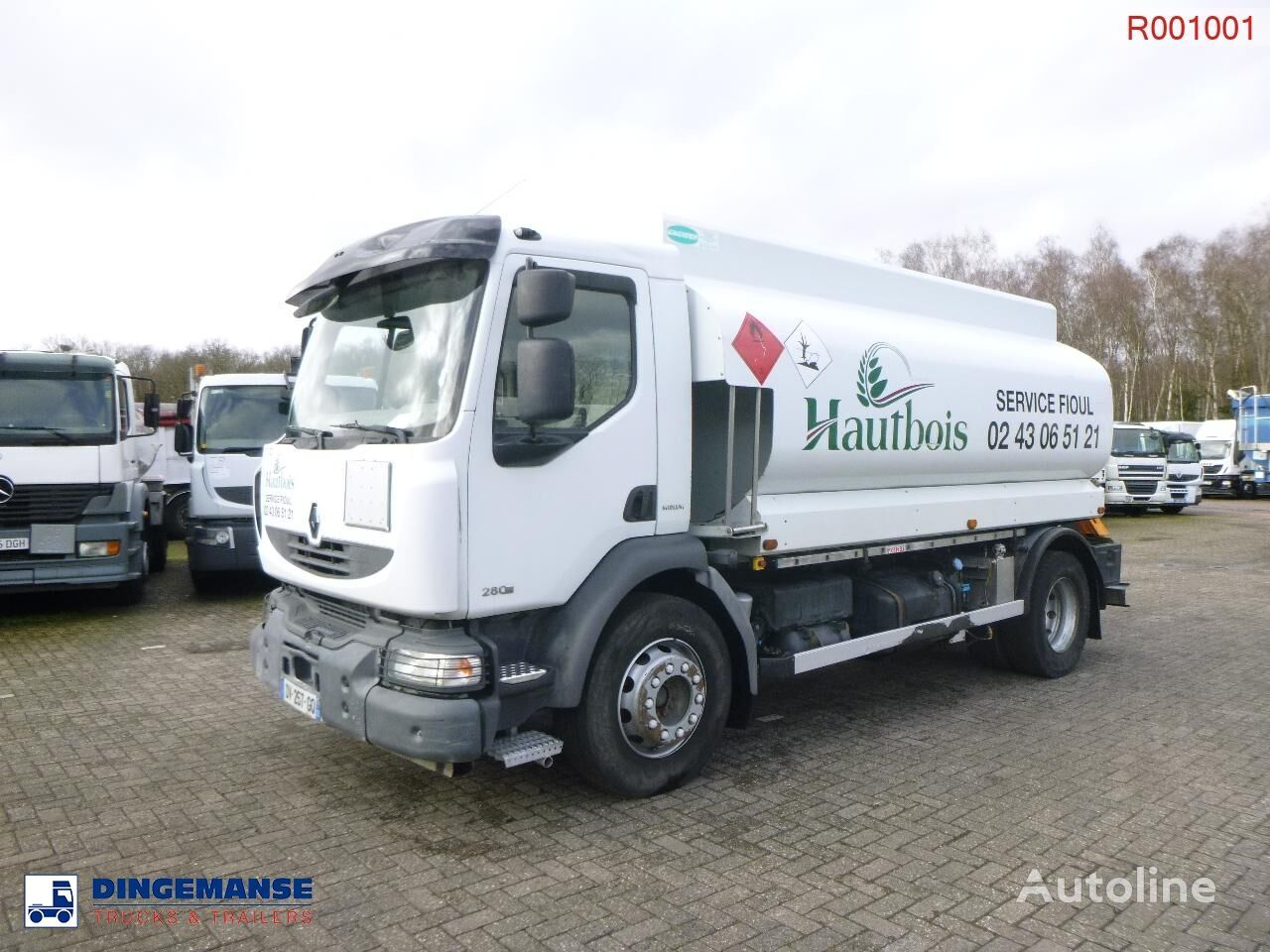 RENAULT Midlum 280 dxi 4x2 fuel tank 13.5 m3 / 4 comp camión de combustible