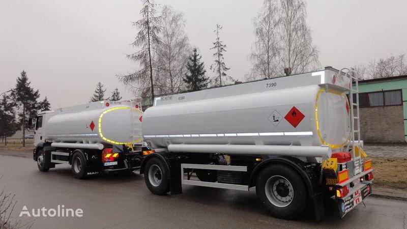 SCANIA DAF,MAN,VOLVO,MB camión de combustible nuevo + remolque toldo