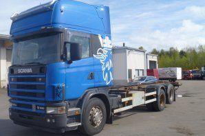 camión de contenedores SCANIA R164GB
