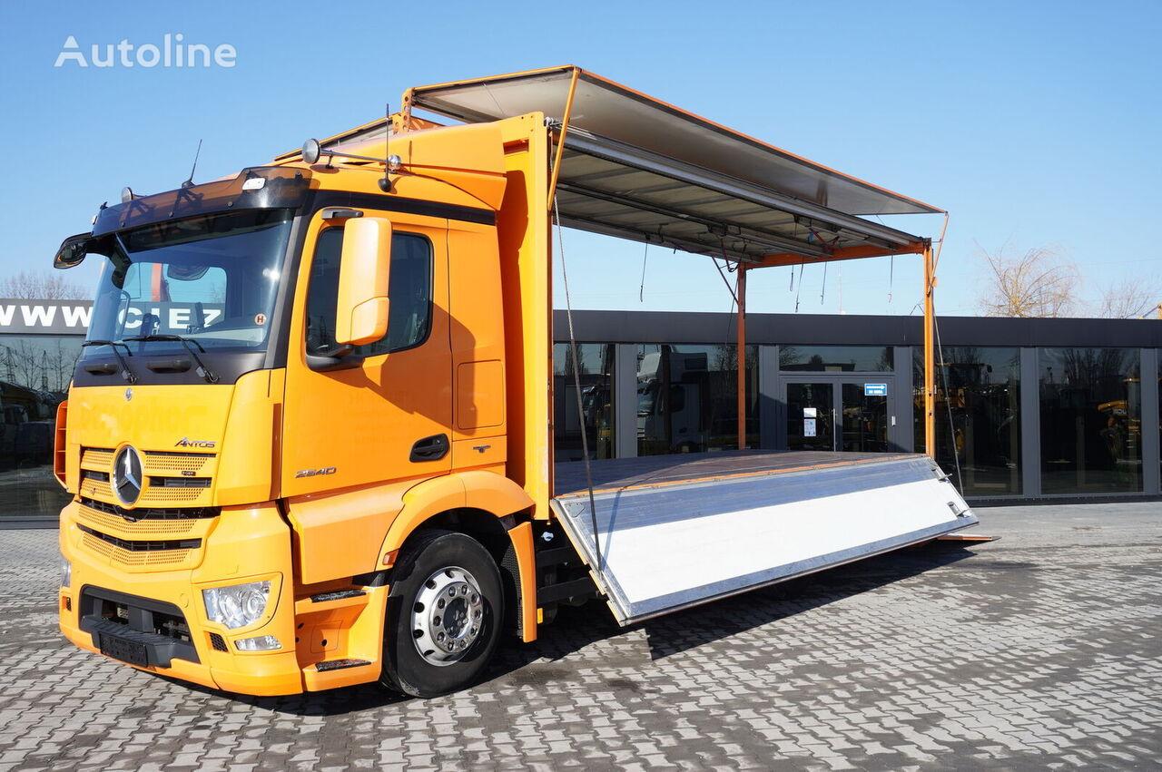 MERCEDES-BENZ Antos 2540 , E6 , 6x2 , 17 EPAL , 2x side opening , tail lift ,  camión furgón