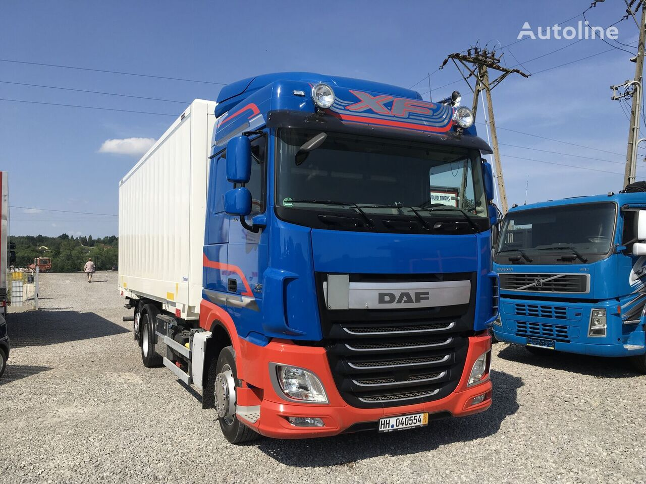 camion isotermo DAF XF 106.440 E6 105 kontener 6x2 , Super stan