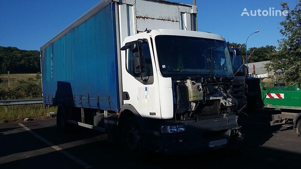 RENAULT premium 210 camión lona deslizante después del accidente