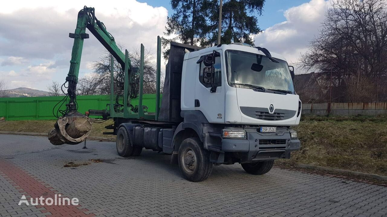 RENAULT Kerax 4x4 do transportu drewna camión maderero