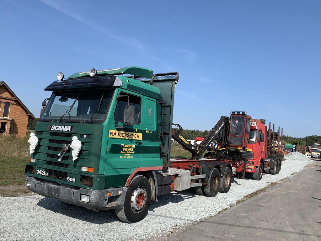 SCANIA 143H camión maderero