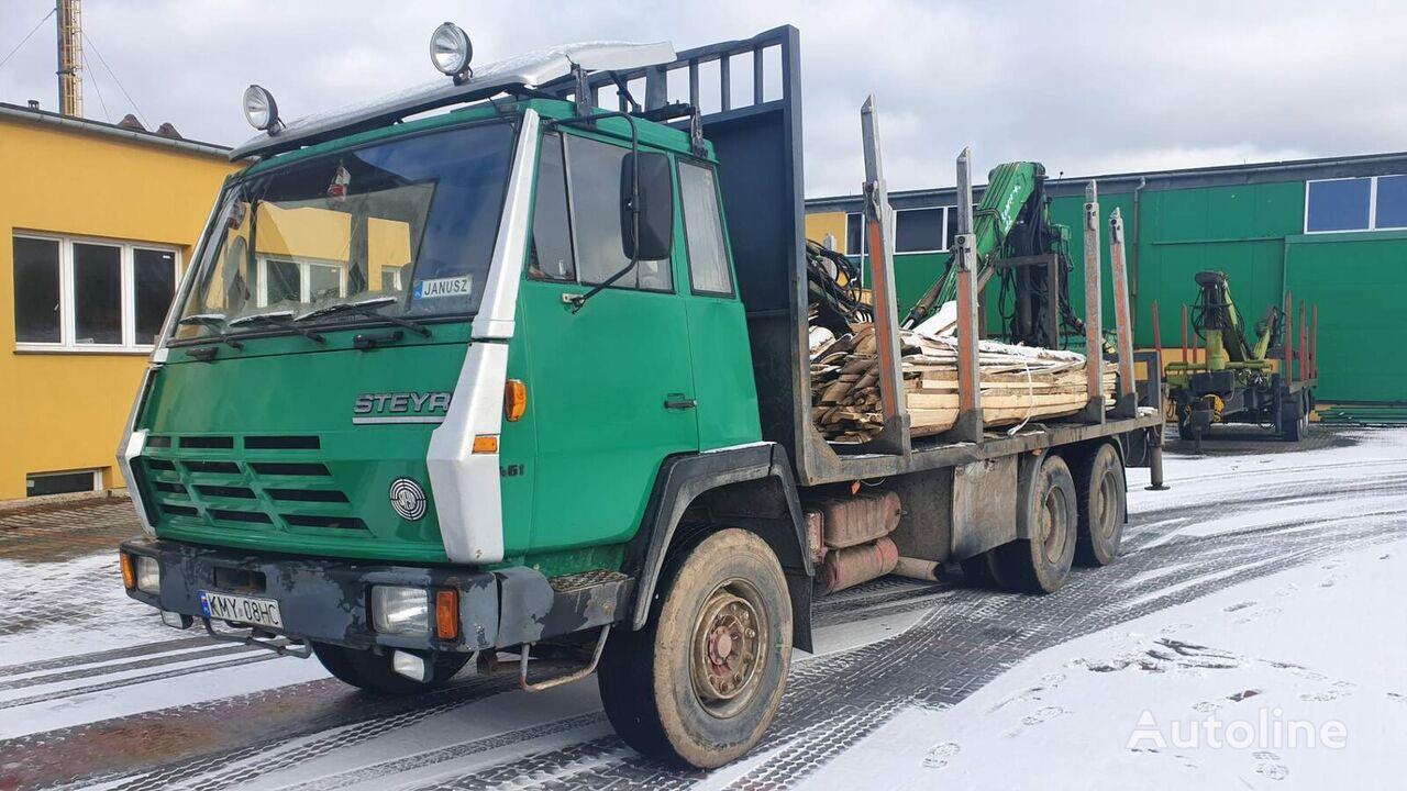 STEYR 1491 camión maderero