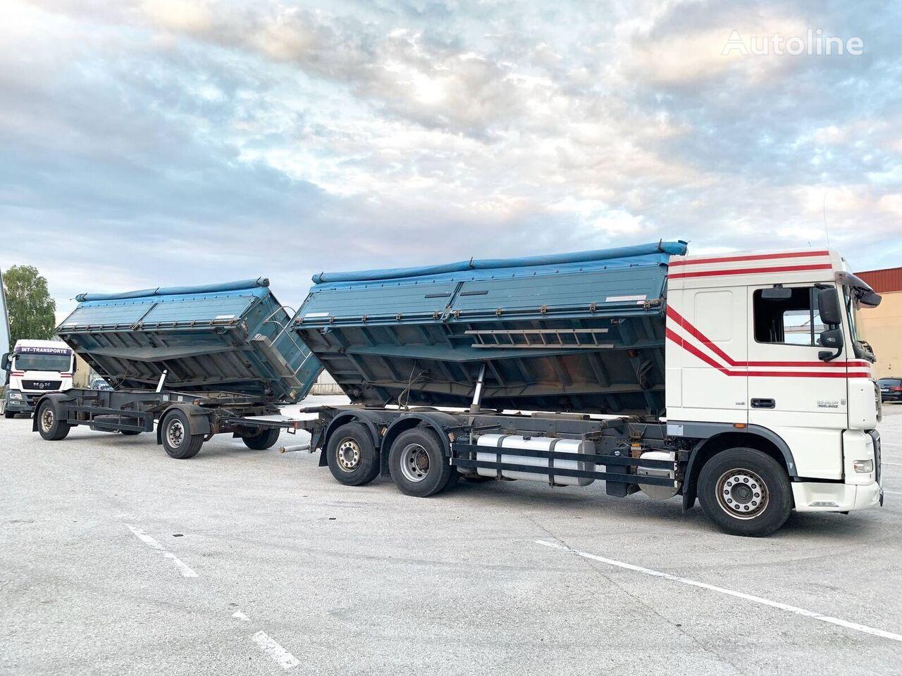 DAF XF105.460 3-Seiten GETREIDEKIPPER+ANHÄNGER // NEUE KUPPLUNG ..:: camión para transporte de grano + remolque para transporte de grano
