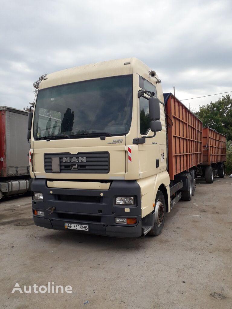 MAN-VW camión para transporte de grano + remolque para transporte de grano