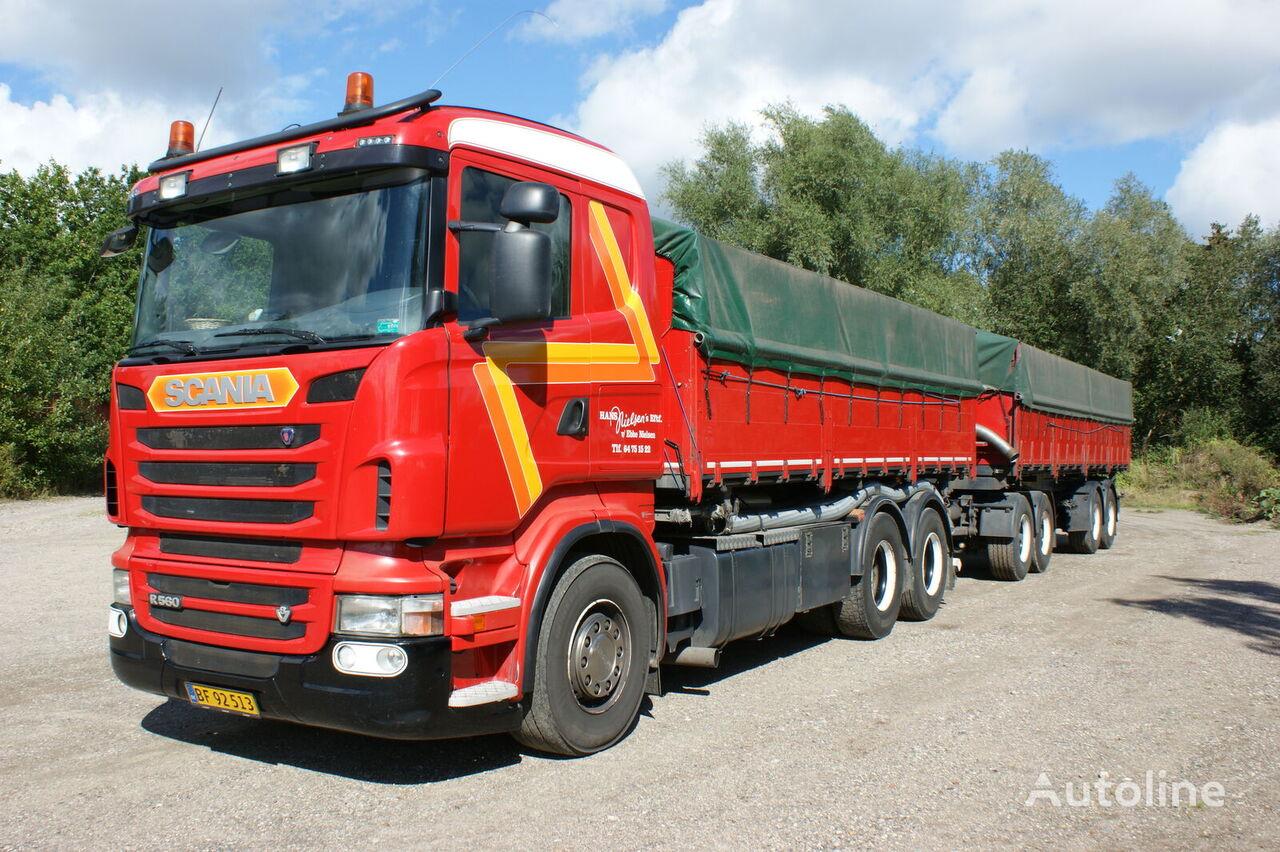 SCANIA R560 camión para transporte de grano + remolque para transporte de grano