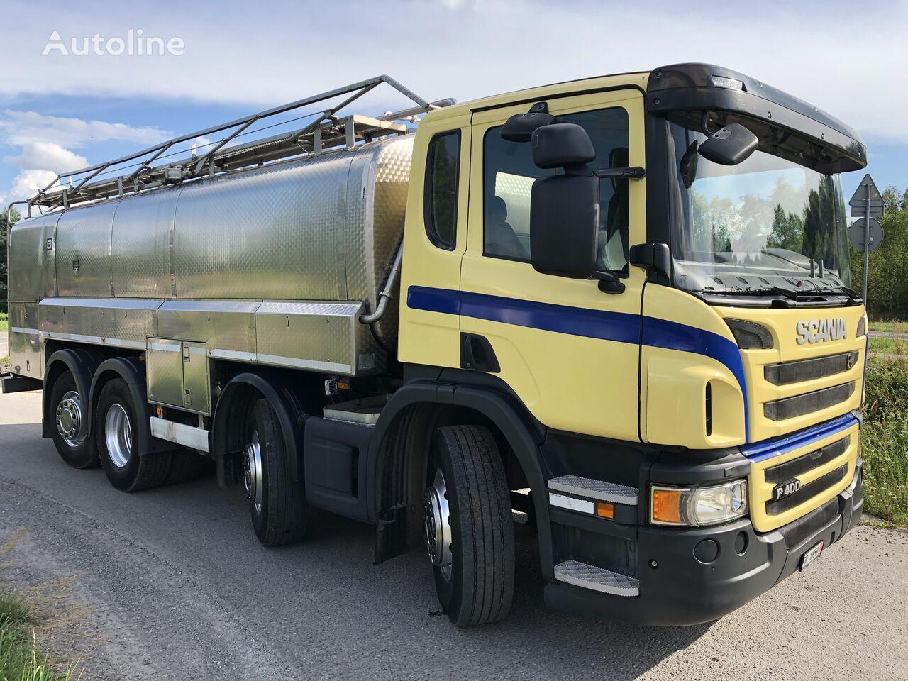 SCANIA P 400 KM 8x2 Beczka Do Mleka Sprowadzona Ze Szwajcarii camión para transporte de leche