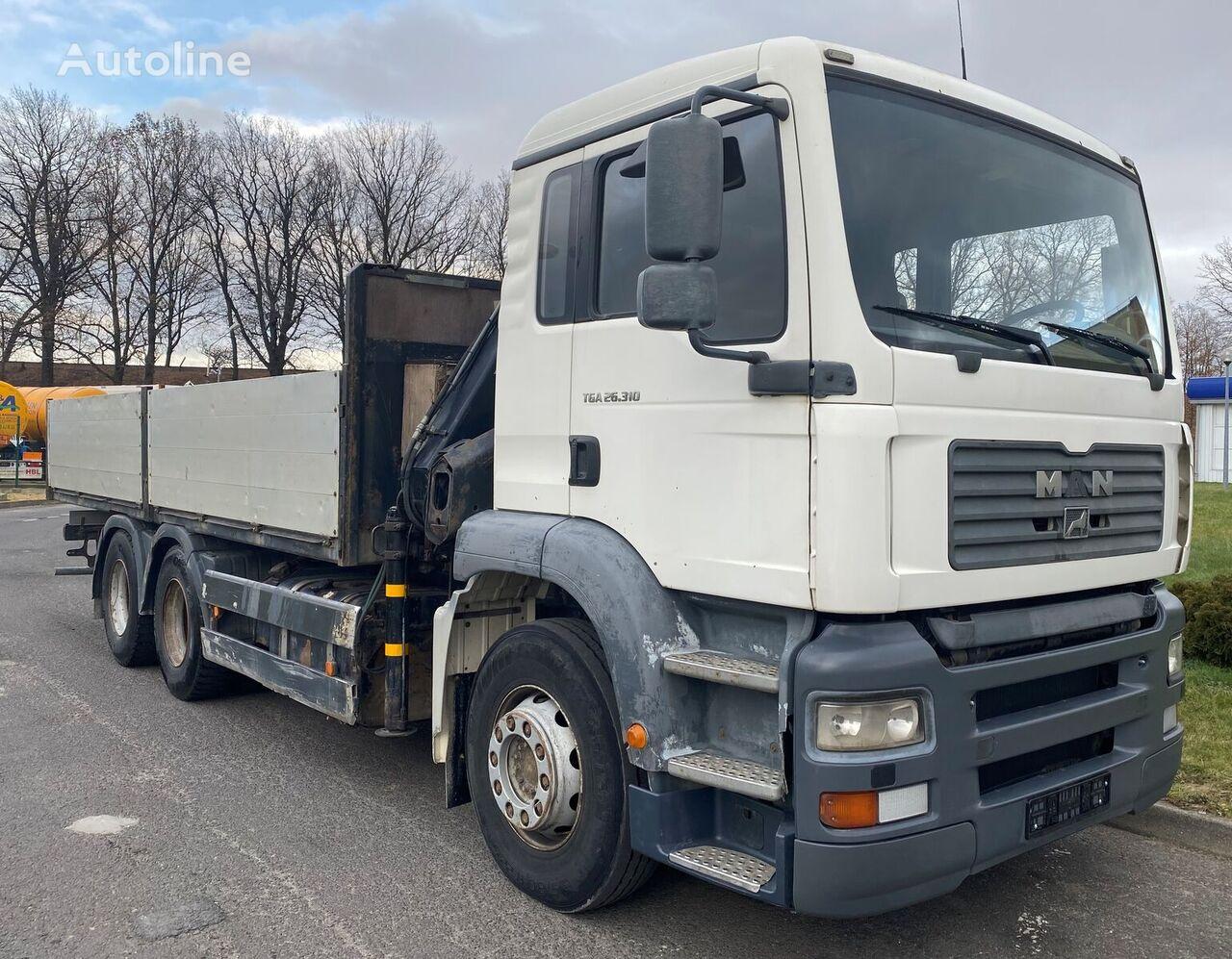 MAN 26.310 TGA 6x4 + HIAB 144 B-2 DUO camión plataforma