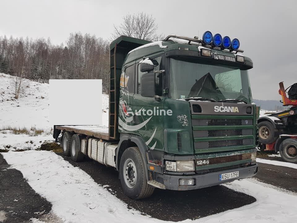 SCANIA 124G camión plataforma