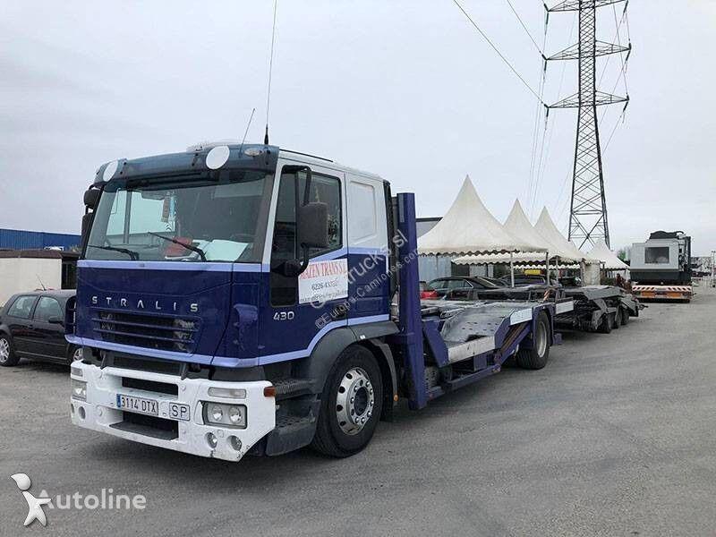 camión portacoches IVECO Stralis + remolque portacoches