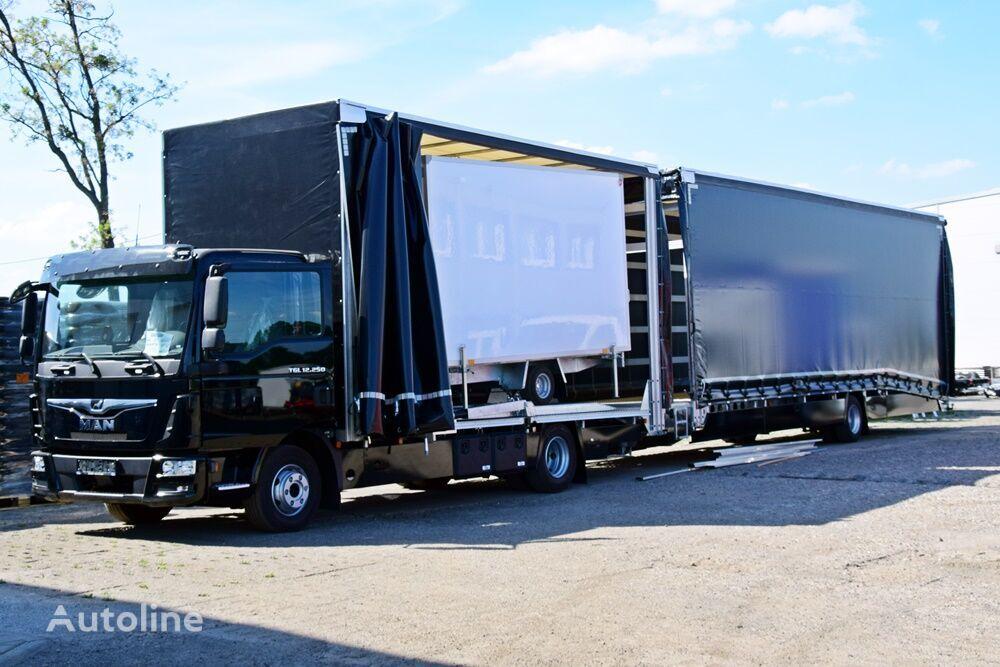 MAN AUTOTRANSPORTER ZABUDOWA PIĘTROWA + PRZYCZEPA PRZEJAZDOWA camión portacoches nuevo + remolque portacoches