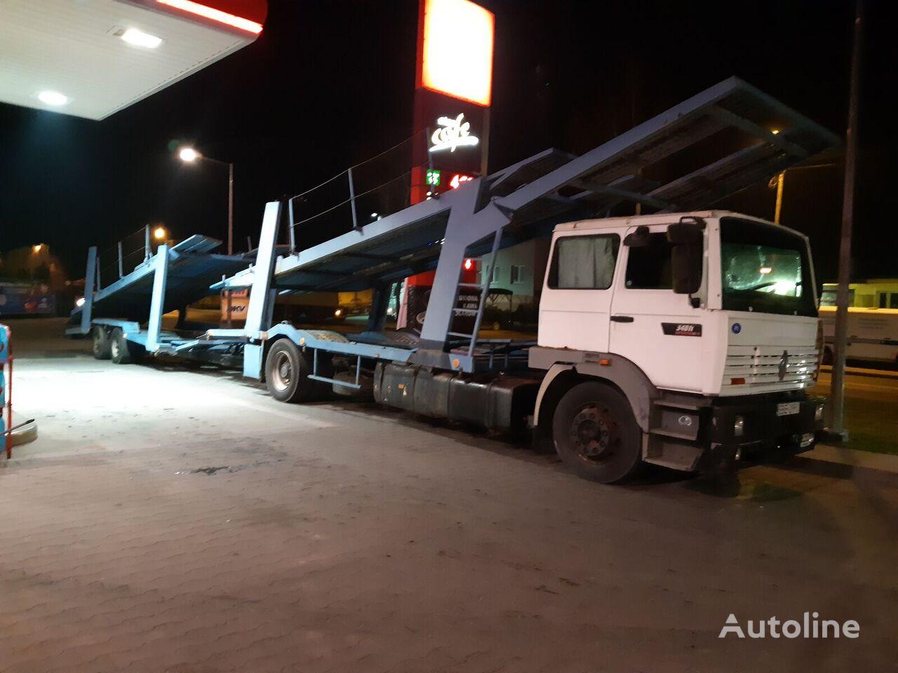 RENAULT Manager G340ti camión portacoches + remolque portacoches