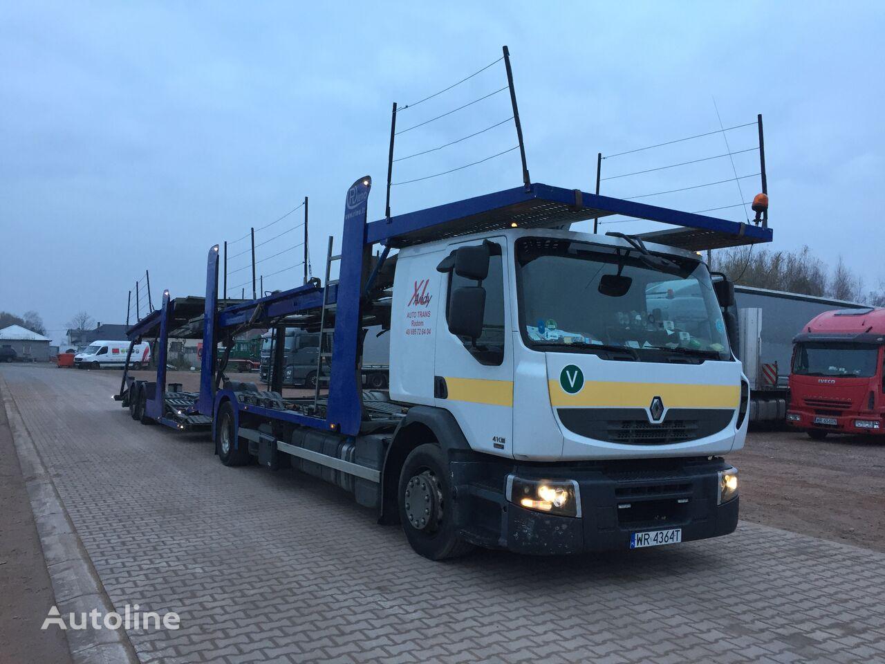 RENAULT Premium DXI 410 camión portacoches + remolque portacoches