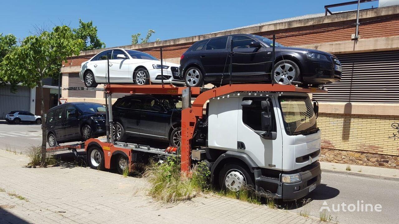 camión portacoches RENAULT premium 420.18 + remolque portacoches