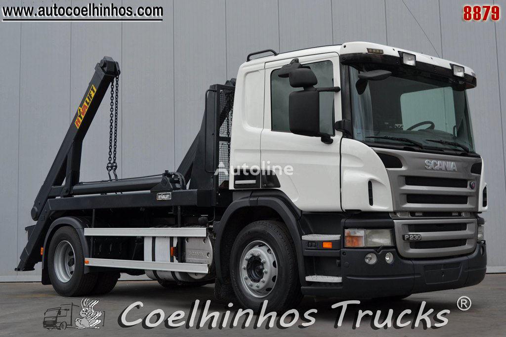SCANIA P 230 camión portacontenedores