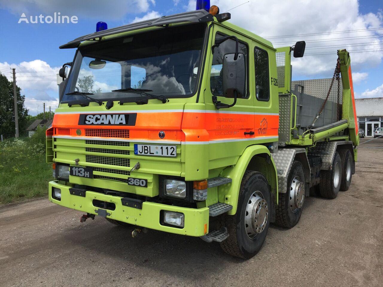 camión portacontenedores SCANIA P113  360