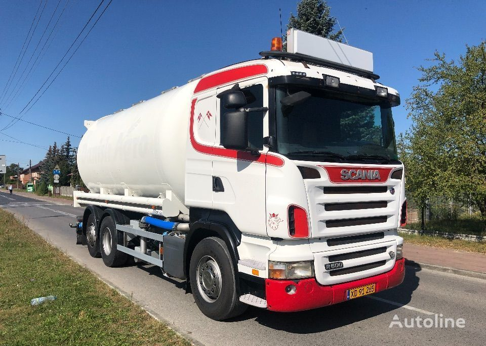 SCANIA R 500 SILOS -PASZOWÓZ -PELET ZBOŻE camión silo