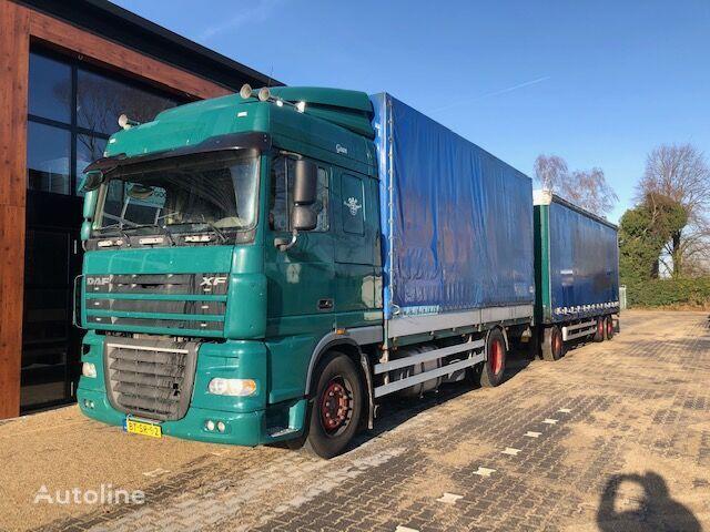 DAF FA XF105.410 huif met borden camión toldo