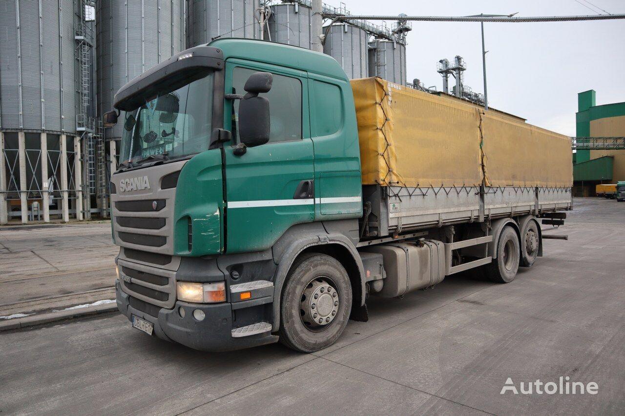 SCANIA /ELBO 6X2 SKRZYNIA camión toldo
