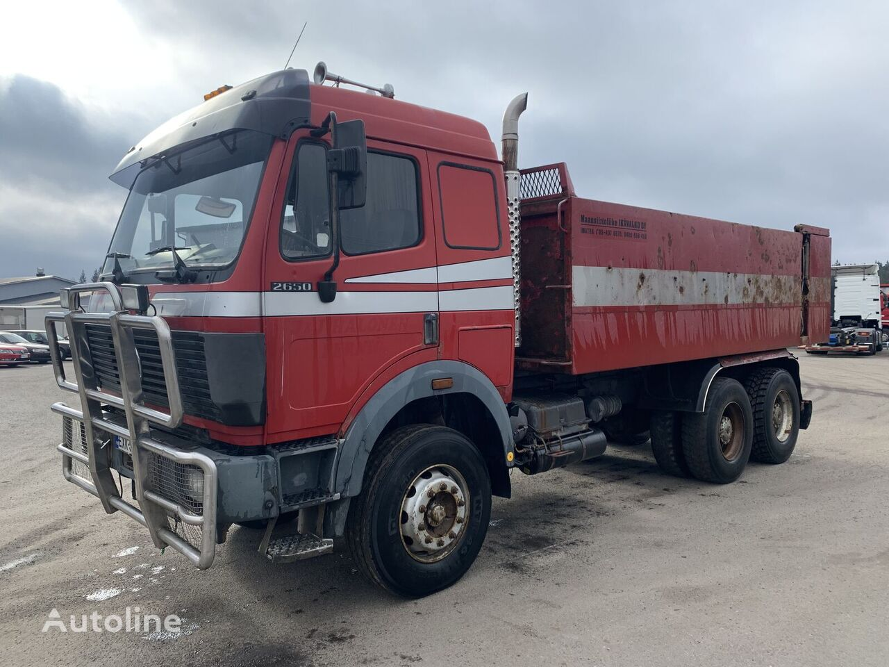 MERCEDES-BENZ SK 2650 6x4 big axel manual, full steel kipper camión volquete