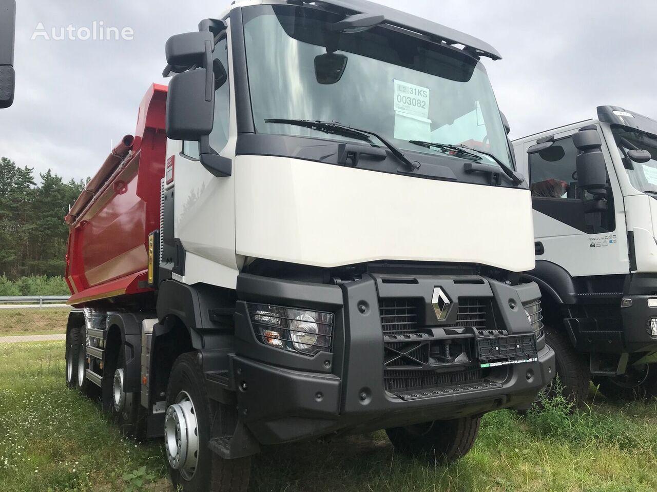 RENAULT K 460.44 8X4 R HEAVY E6 + HALF PIPE camión volquete nuevo