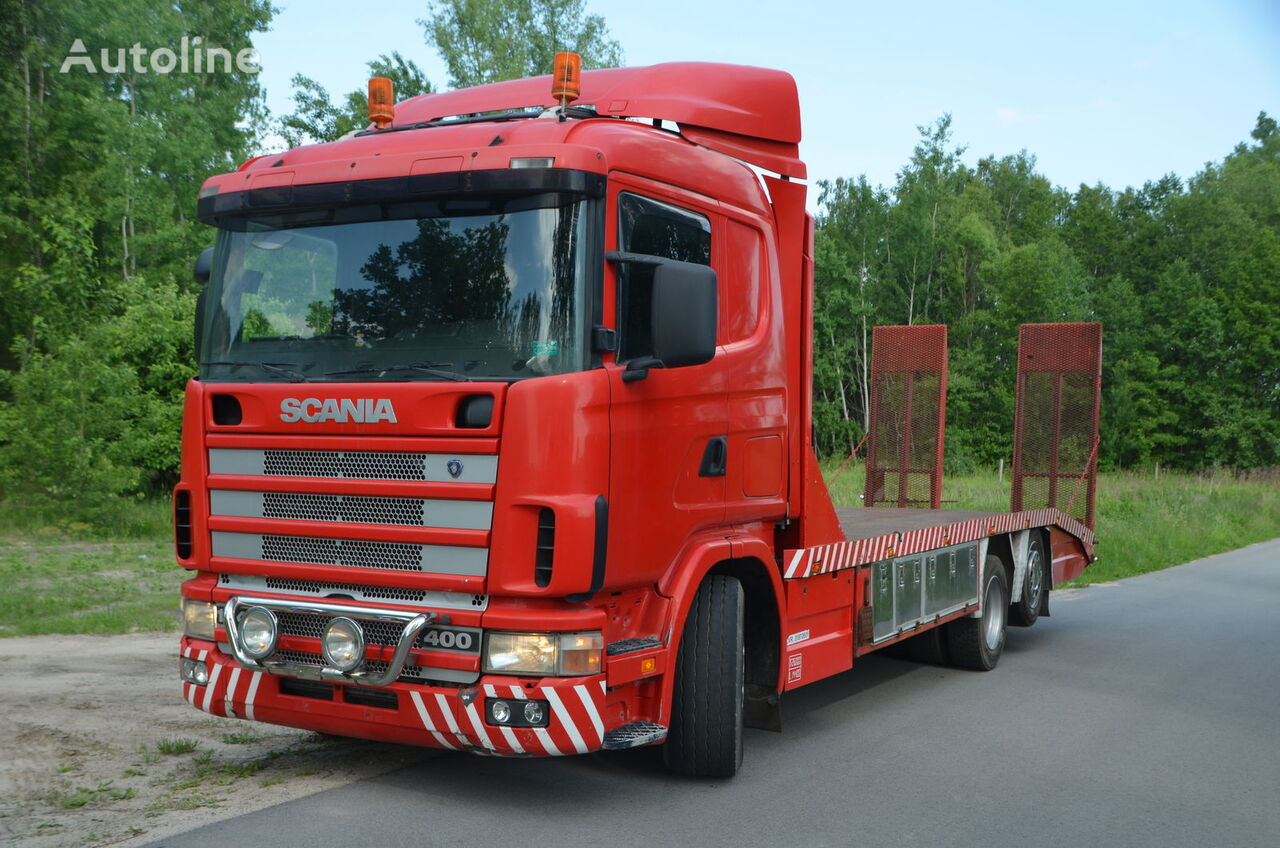 SCANIA 124 L grúa portacoches