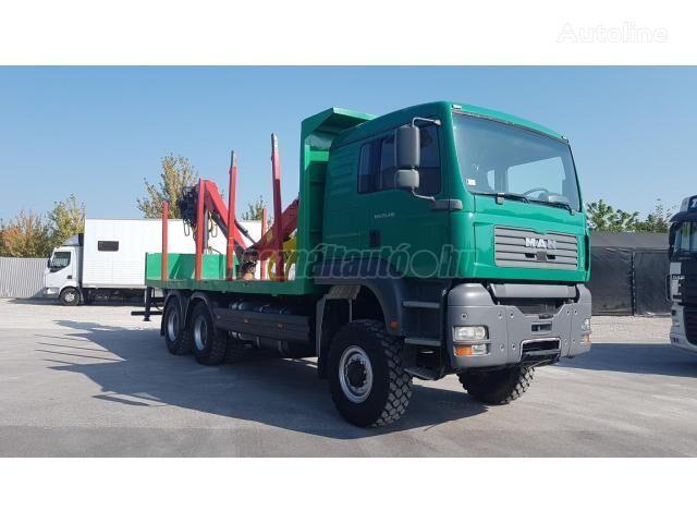 transporte de madera MAN TGA 26.410 6x6 EPSILON 160Z96