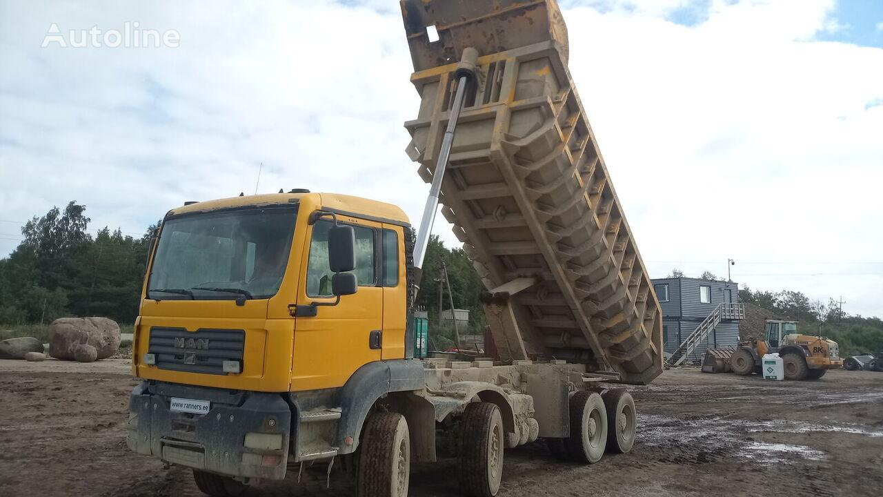 MAN TGA 41.430  8x4 tipper, full steel, big axle volquete