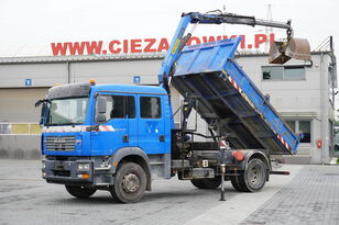 MAN TGM 18.240 , DOKKA 7 seats , A/C , tipper + crane PK , grapple + volquete