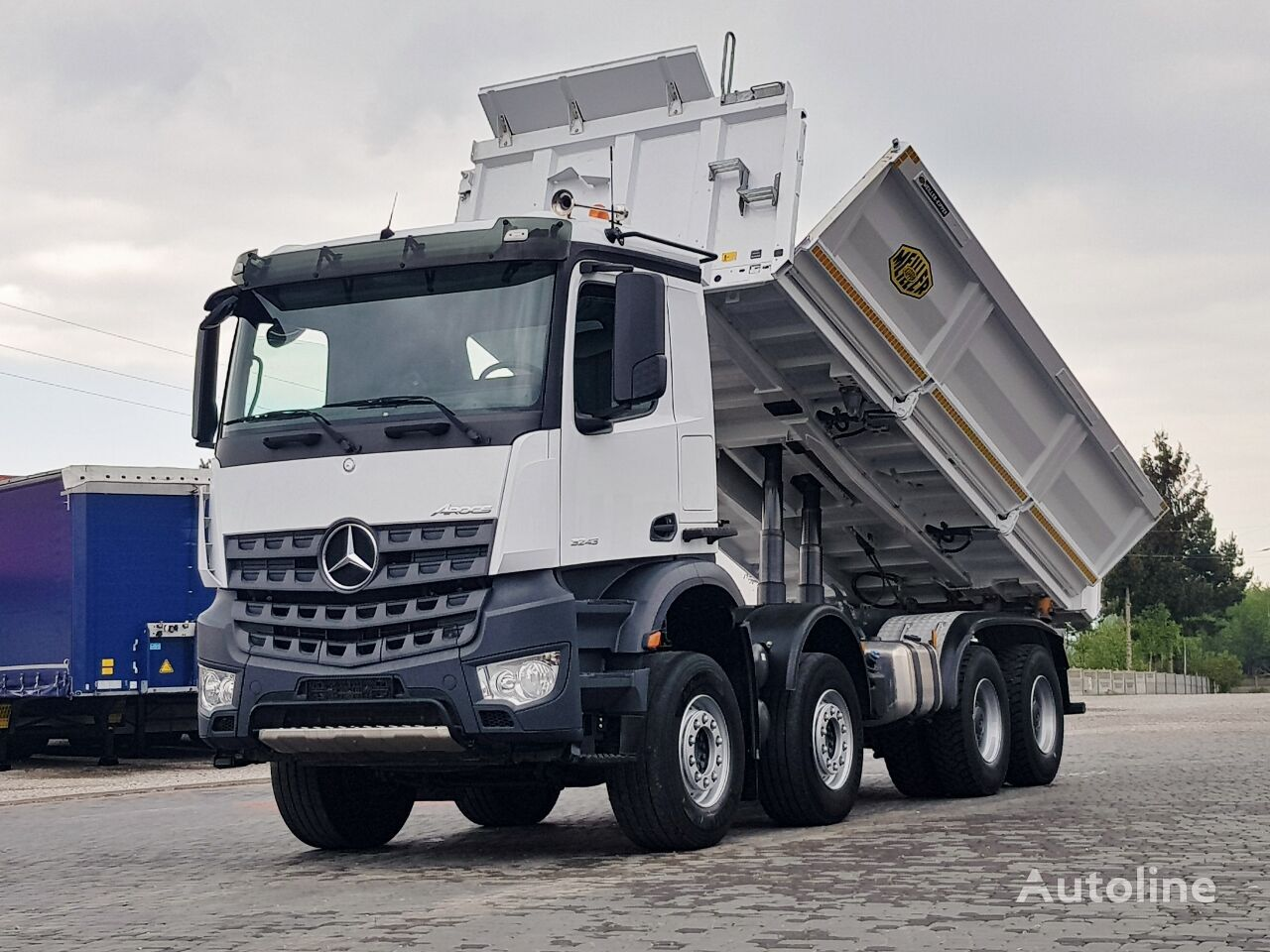 MERCEDES-BENZ Arocs 3243 MEILLER BORDMATIC 8X4 2014 TOP_ZUSTAND volquete