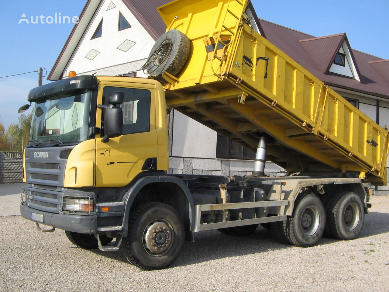 SCANIA 6x6 P340 3 SIDED TIPPER  volquete