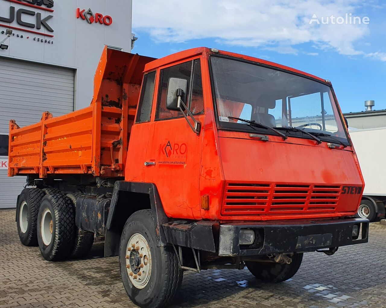 STEYR 1491, Tipper 6x4, Full Steel, big axles ,6 CYLINDERS volquete