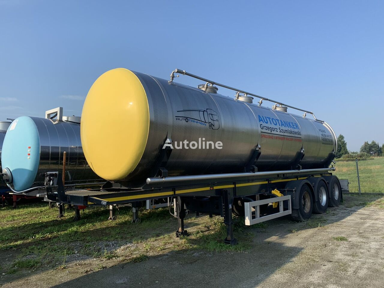 POLLINI 24500L/3 kammer cisterna alimentaria