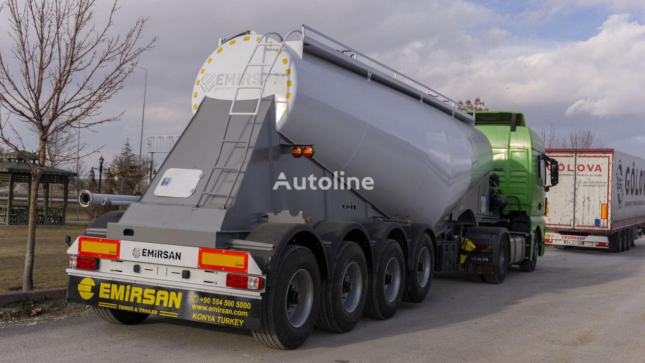 EMIRSAN 4 Axle Cement Tanker Trailer cisterna de cemento nueva