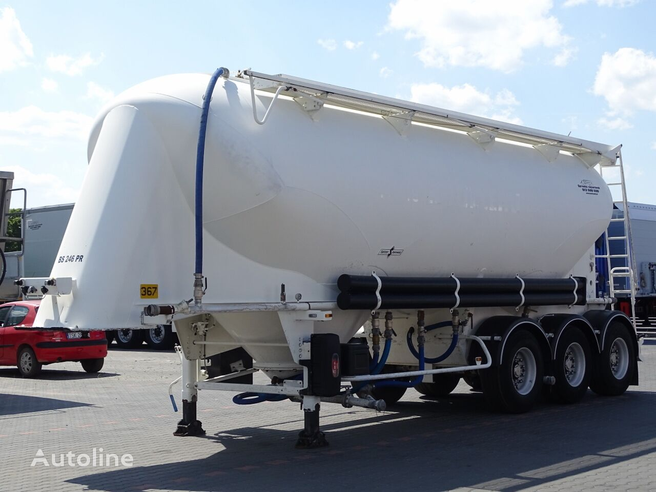 SPITZER CEMENT TRAILER / CISTERN / 37000 L / WEIGHT: 4700 KG /  cisterna de cemento