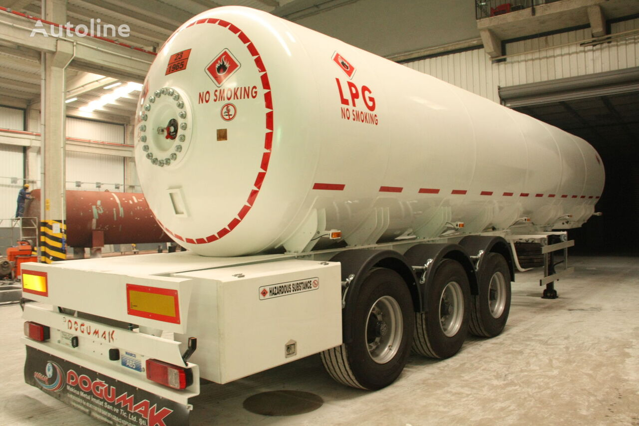DOĞUMAK 45 CBM SEMI TRAILER FOR TRANSPORTATION LIQUIFIED PETROLEUM GAS cisterna de gas nueva