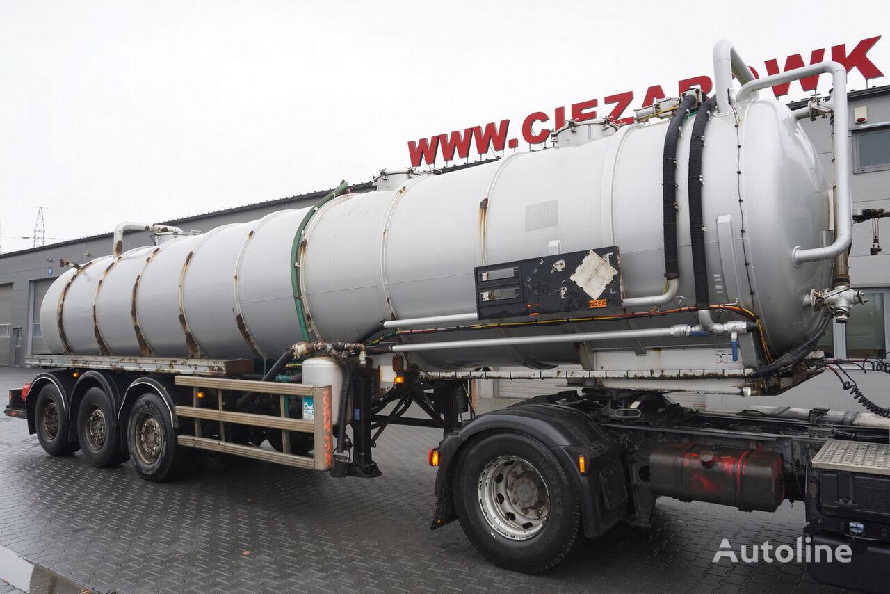 Whale Tankers S.S VAC , ADR , 30.000L , vacuum pomp  cisterna química