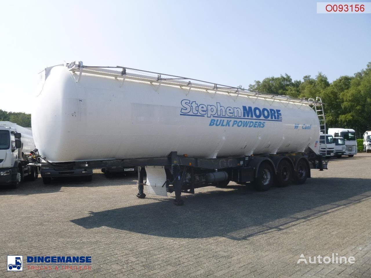 LAG Powder tank alu 58.5 m3 / 1 comp + compressor cisterna silo