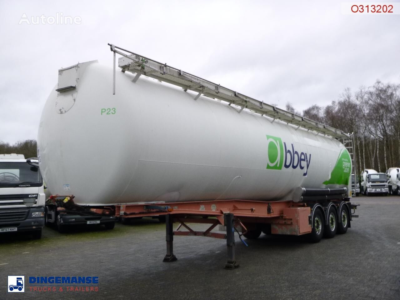 LAG Powder tank alu 60.5 m3 (tipping) cisterna silo