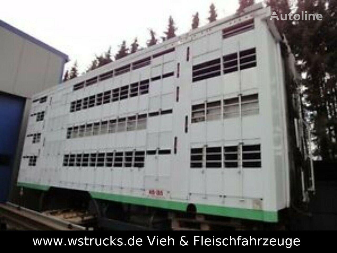 MERCEDES-BENZ KABA 4 Stock Vollalu 2004 Hubdach carrocería para transporte de ganado