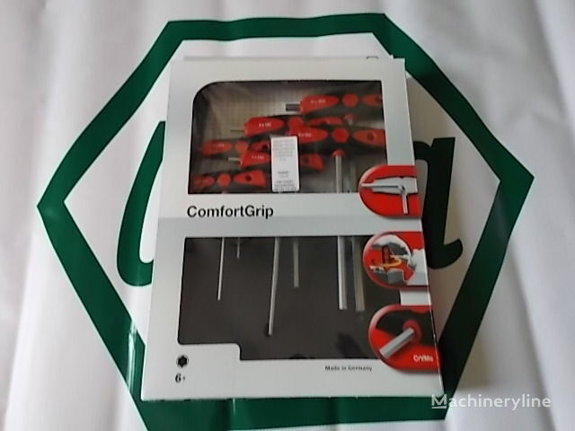 Zestaw kluczy sześciokątnych z rękojeścią ComfortGrip, 6-cz. herramienta para el servicio del vehículo