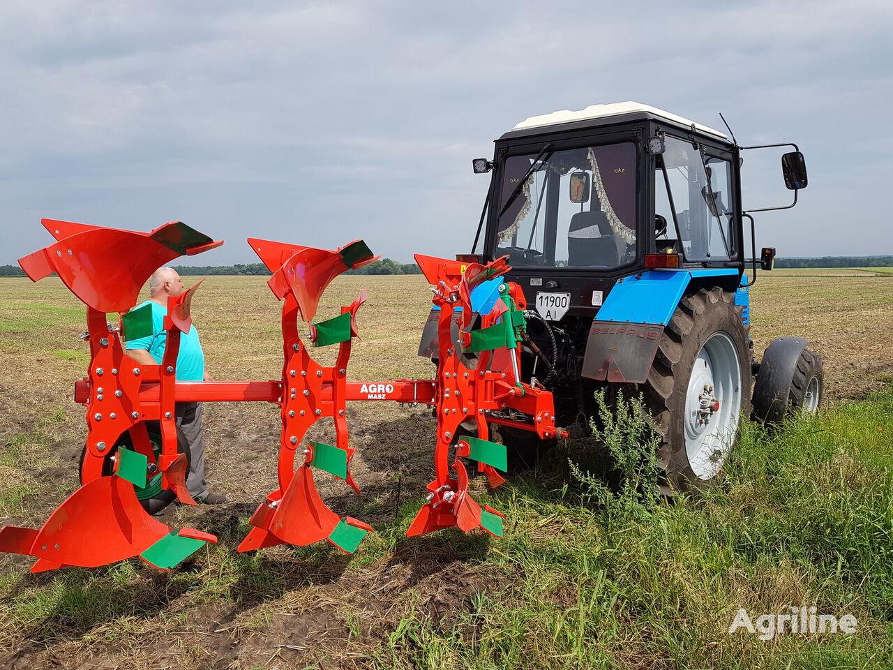 AGRO-MASZ Plug oborotniy 3-korpusniy 25*30*35*40 sm V NAYaVNOSTI arado reversible nuevo
