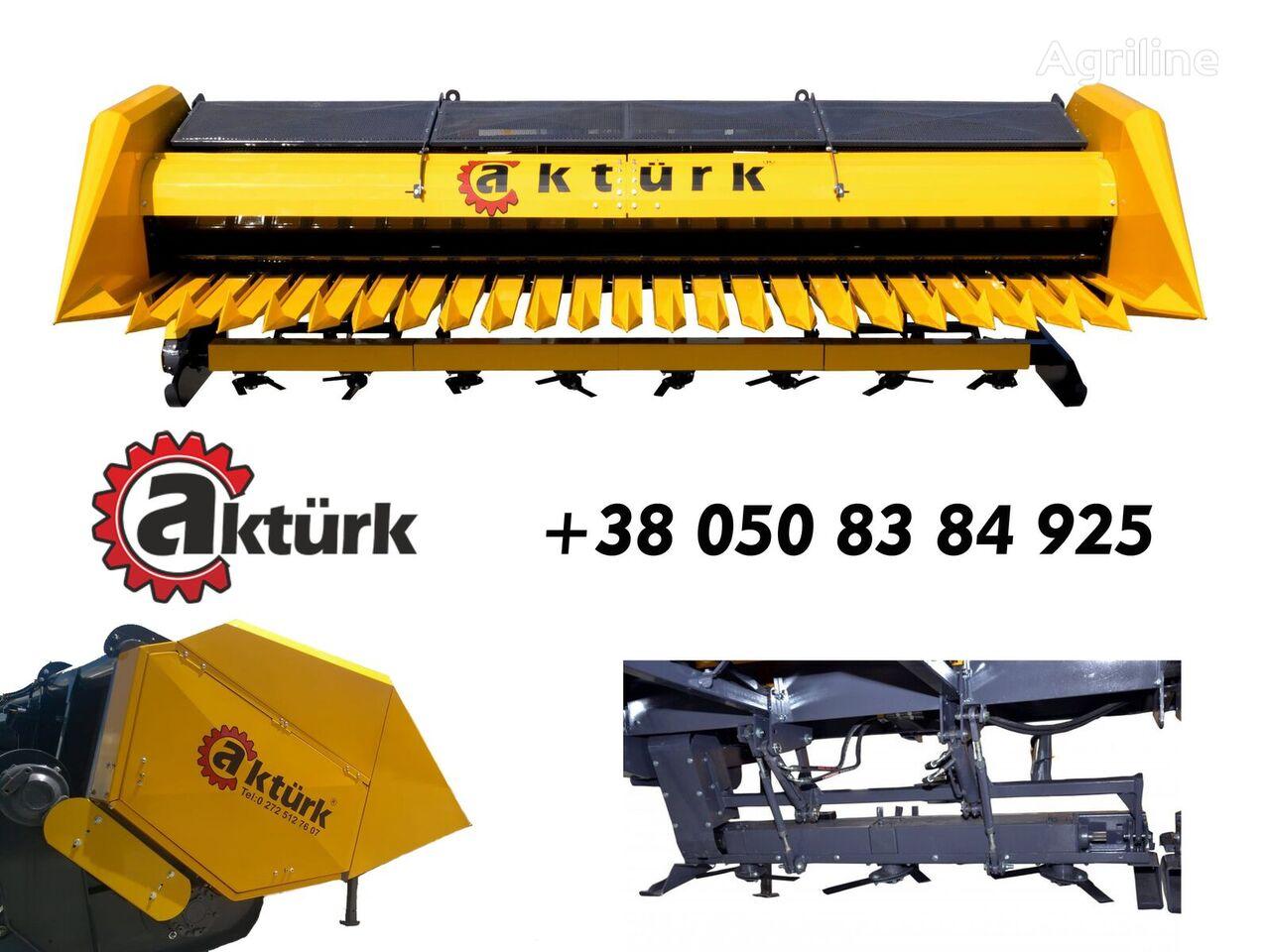 AKTURK 7,5 - 9.3 m s izmelchitelem cabezal de girasol nuevo