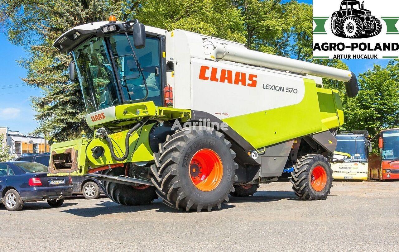 CLAAS  LEXION 570 - 2010 ROK - VARIO 750 - 2815 h cosechadora de cereales