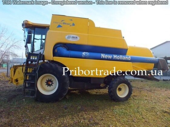 NEW HOLLAND csx 7080 + 2 zhatki №439 cosechadora de cereales